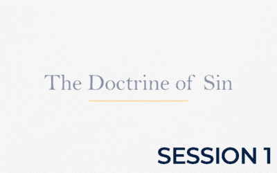 The Doctrine of Sin POA – Session 1