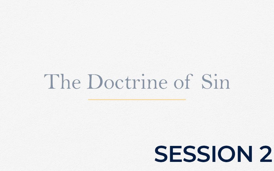 The Doctrine of Sin – Session 2
