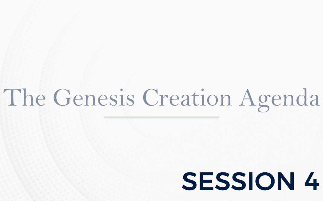 The Genesis: The Creation Agenda – Session 4