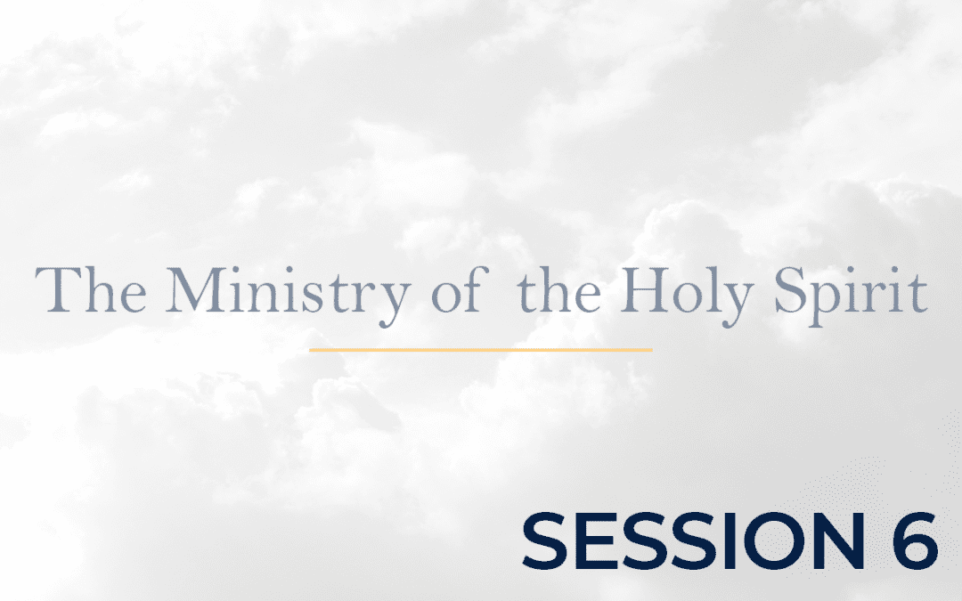 The Ministry of the Holy Spirit Session 6