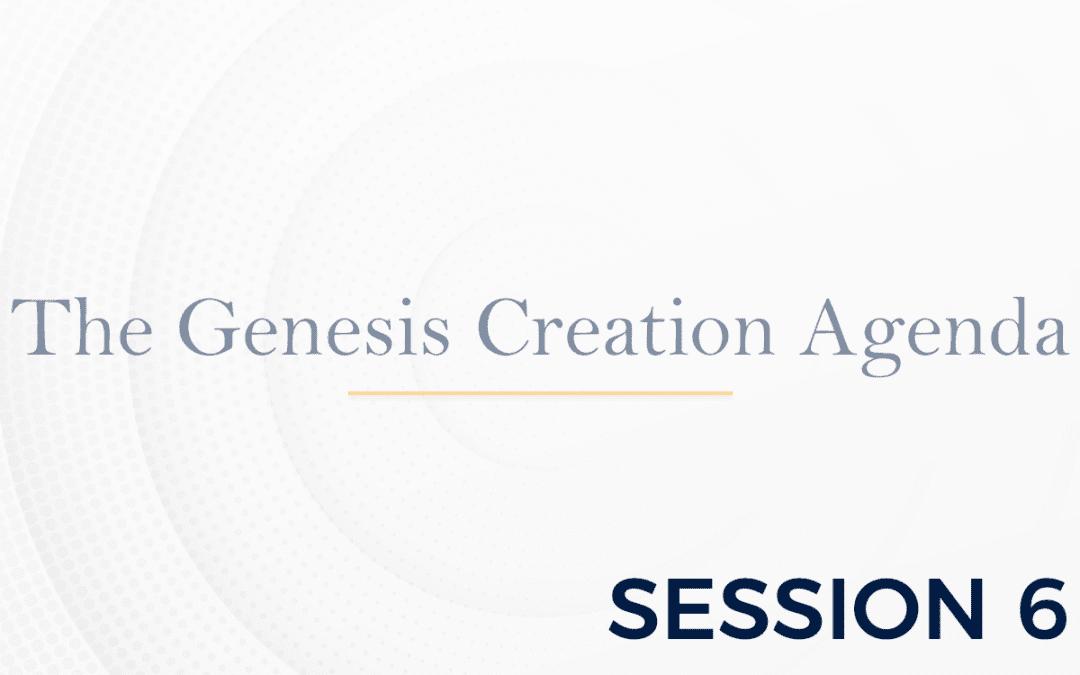 The Genesis: The Creation Agenda – Session 6