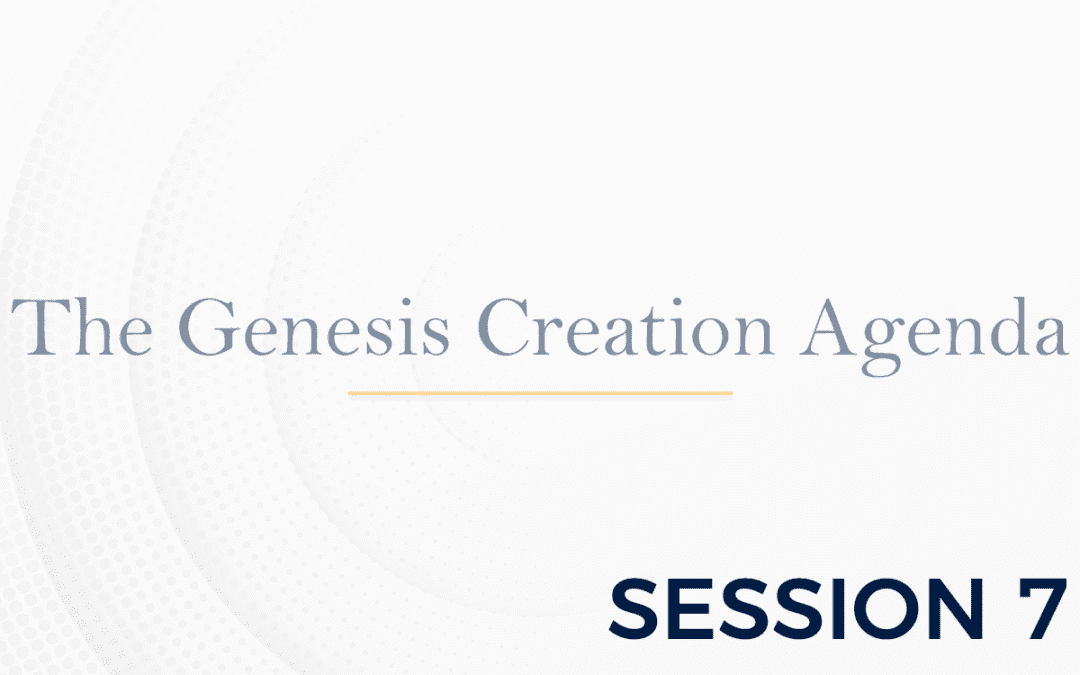 The Genesis: The Creation Agenda – Session 7