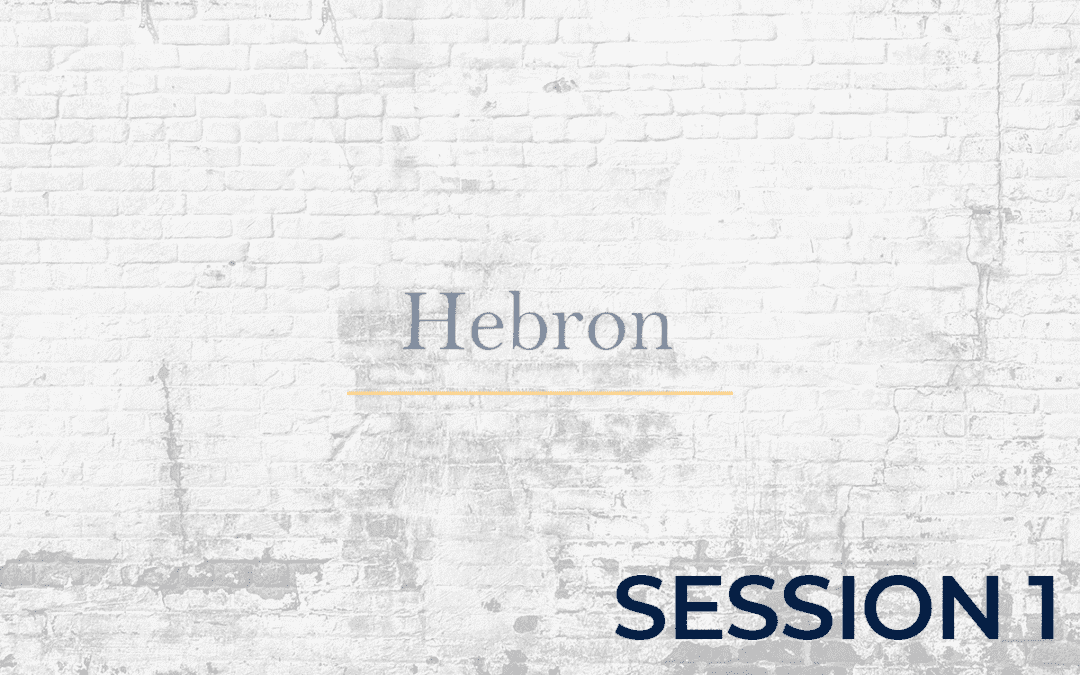 Hebron Session - 1