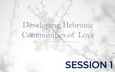 Developing Hebronic Communities of Love – Session 1