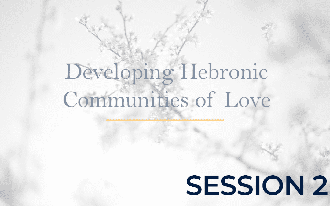 Developing Hebronic Communities of Love – Session 2