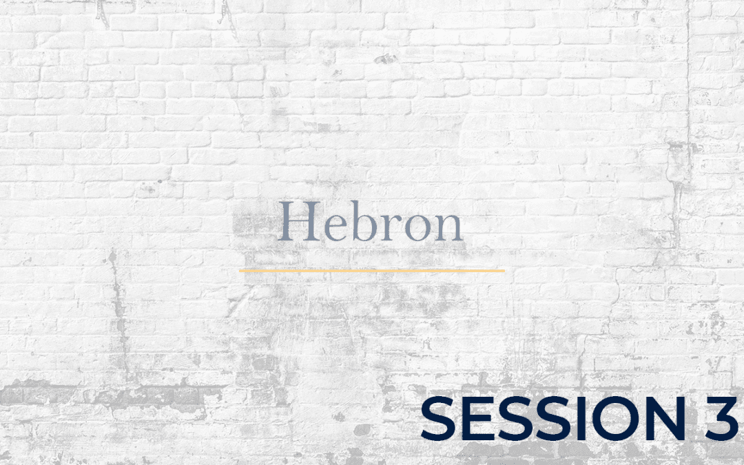 Hebron Session - 3