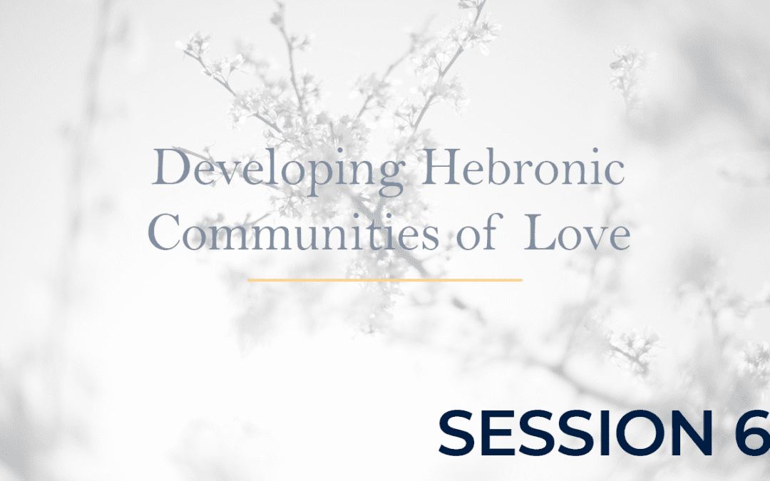 Developing Hebronic Communities of Love – Session 6