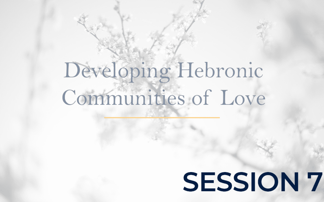 Developing Hebronic Communities of Love – Session 7