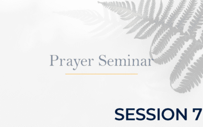 Prayer Seminar – Session 7