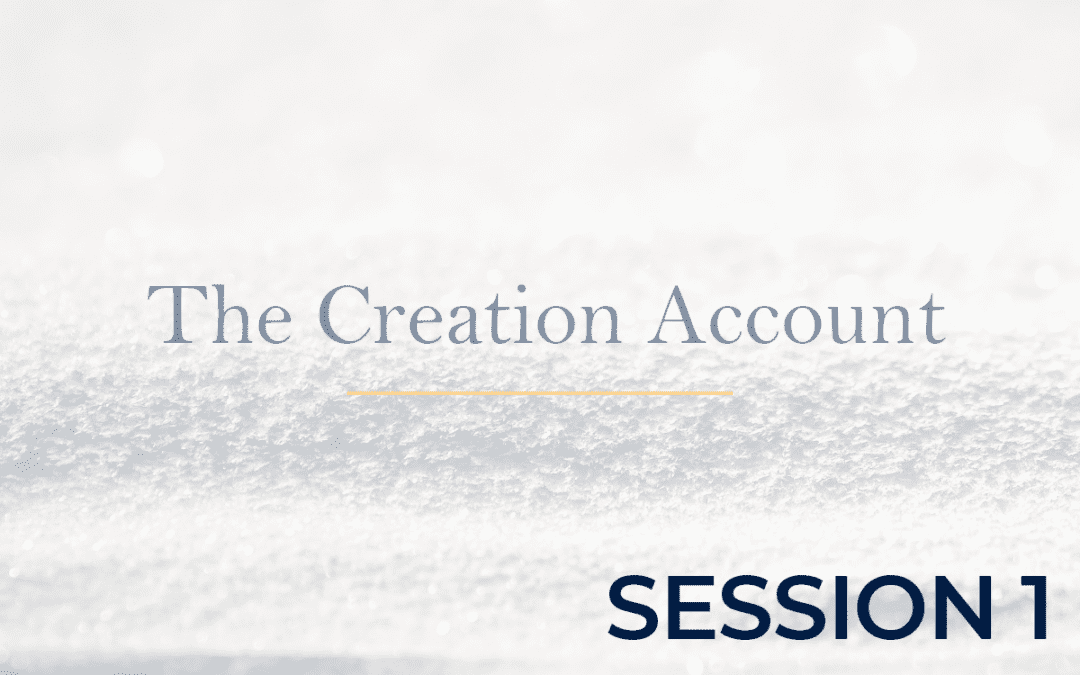 The Creation Account Session 1