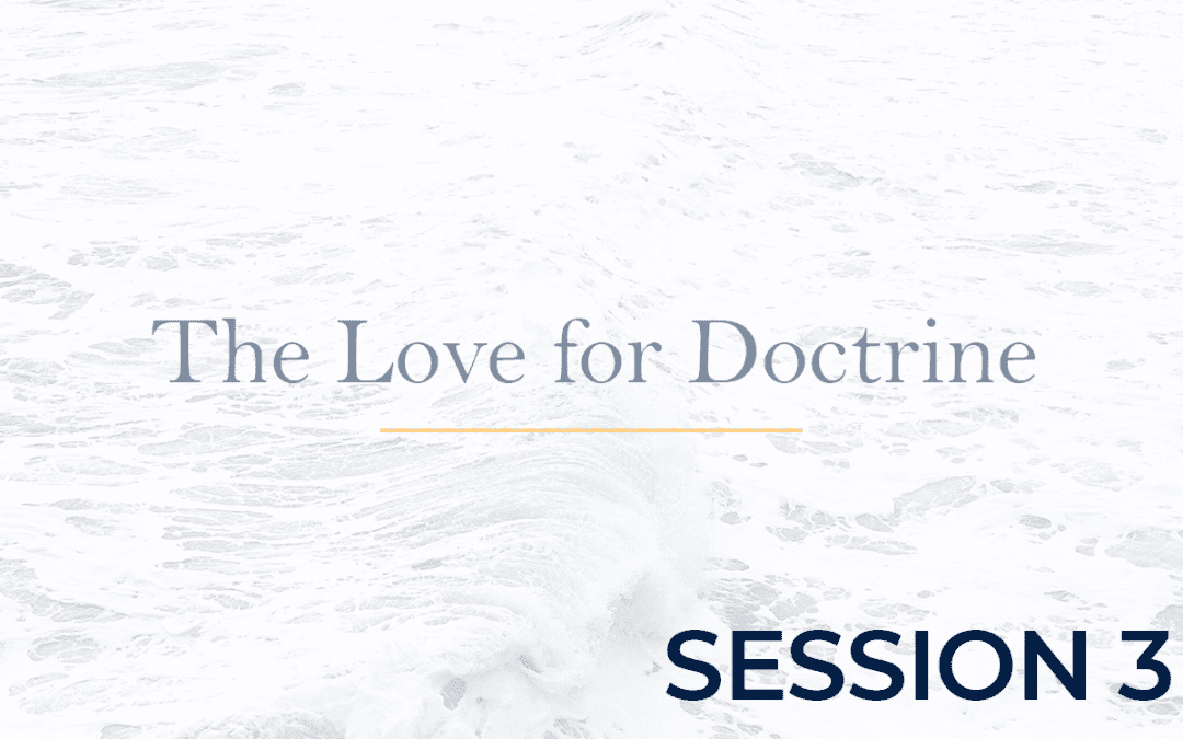 The Love for Doctrine Session 3