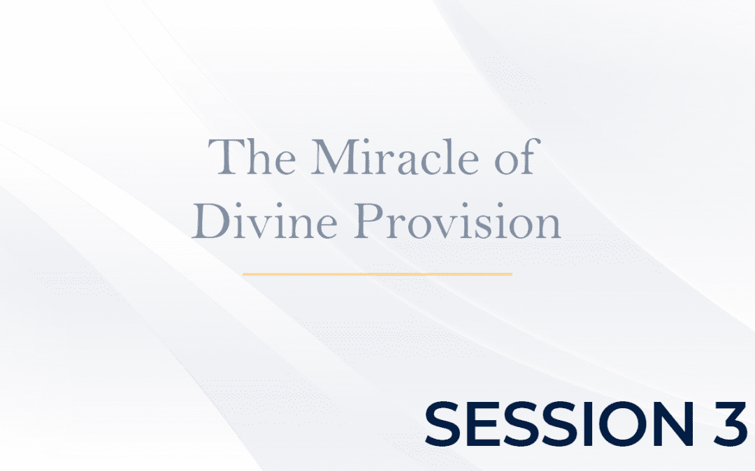 The Miracle of Divine Provision Session 3