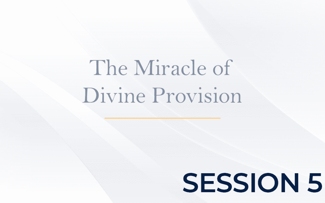 The Miracle of Divine Provision Session 5