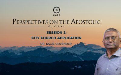 Dr Sagie Govender – City Church Application – POA August 2021